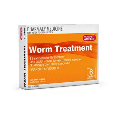 PHARM ACT WORM TREATMENT 100MG TAB 6