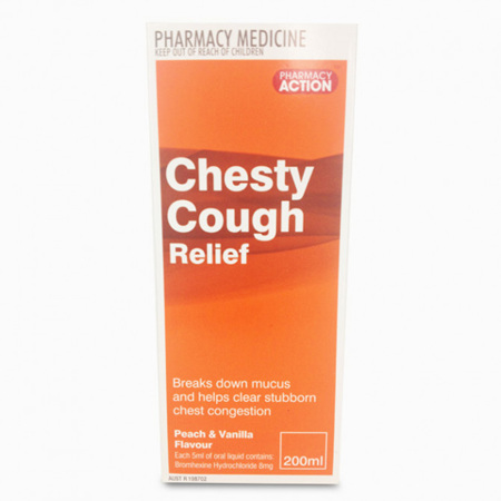 PHARM ACTION CHESTY COUGH 200ML