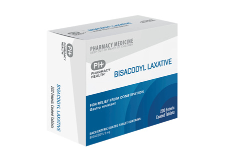 Pharmacy Health Bisacodyl Laxative  200's