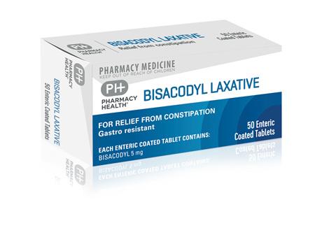Pharmacy Health Bisacodyl Laxative  50's