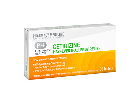 Pharmacy Health Cetirizine Hayfever and Allergy Relief  30's