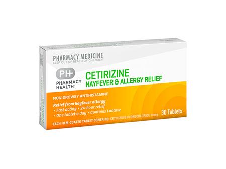 Pharmacy Health Cetirizine Hayfever and Allergy Relief  30's