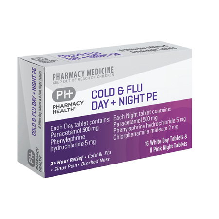 Pharmacy Health Cold & Flu Day + Night PE  24's