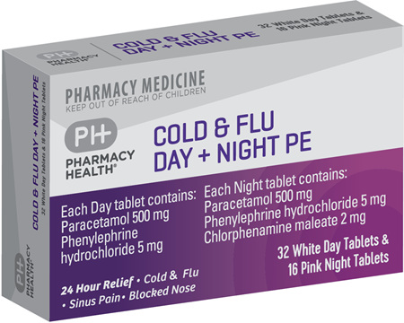 Pharmacy Health Cold & Flu Day + Night PE  48's