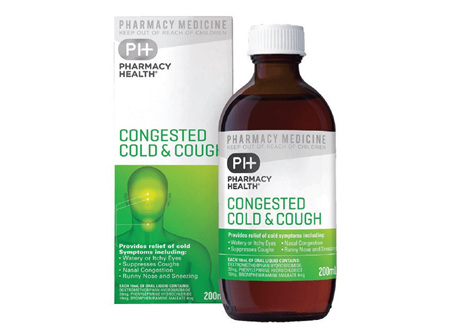 Pharmacy Health Congested Cold  Cough Mixture 200ml