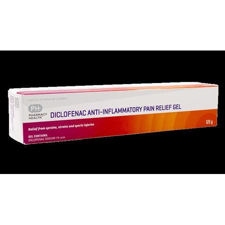PHARMACY HEALTH DICLOFENAC ANTI-INFLAMMATORY GEL 50G