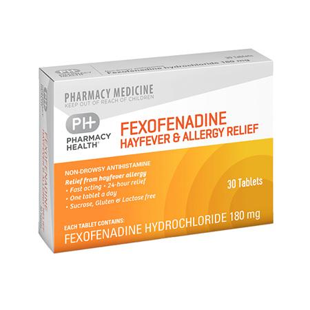 Pharmacy Health Fexofenadine & Allergy Relief 30's