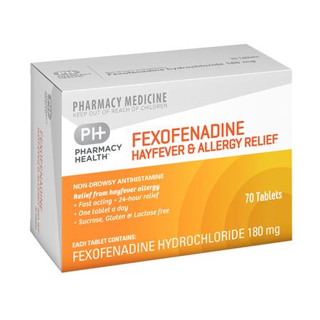Pharmacy Health Fexofenadine & Allergy Relief 70's