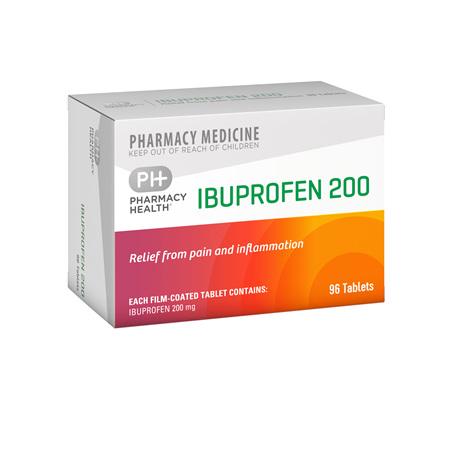 Pharmacy Health Ibuprofen 96's