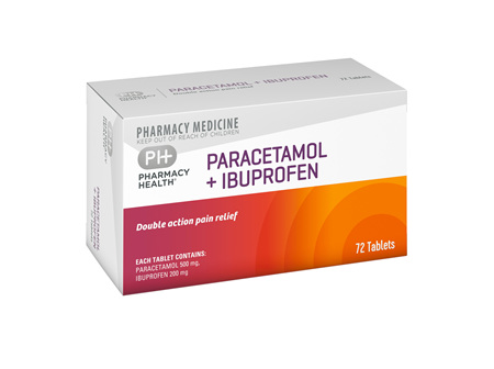 Pharmacy Health Paracetamol + Ibuprofen  72's