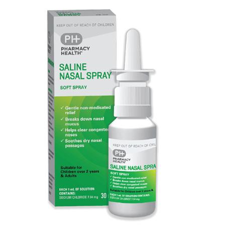 Pharmacy Health Saline Nasal Spray  30ml