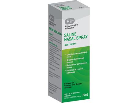 Pharmacy Health Saline Nasal Spray  75ml