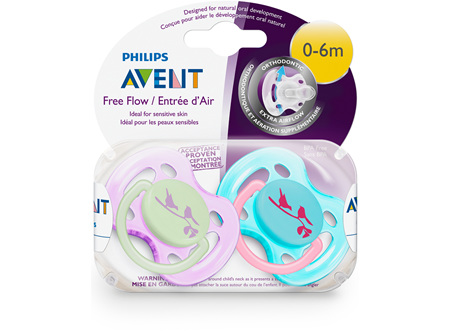 Philips Avent 0-6m Fashion Soother 2pk