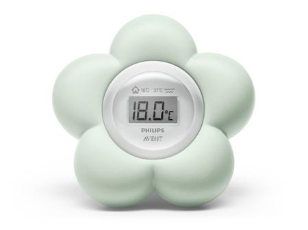 Philips Avent Bath & Bedroom Thermometer - Aqua