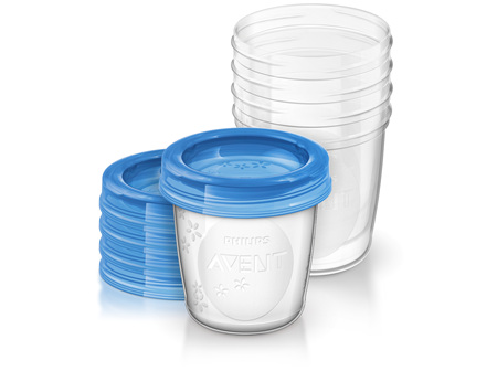 Philips Avent Milk Storage Cups 180ml 5pk