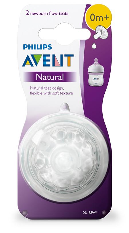 Philips Avent Natural Teat Newborn 0m+ 2pk