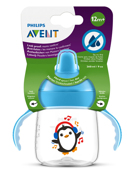 Philips Avent Sip, no Drip Cup 260ml 12m+ (Blue)