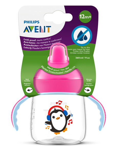 Philips Avent Sip, no Drip Cup 260ml 12m+ (Pink)