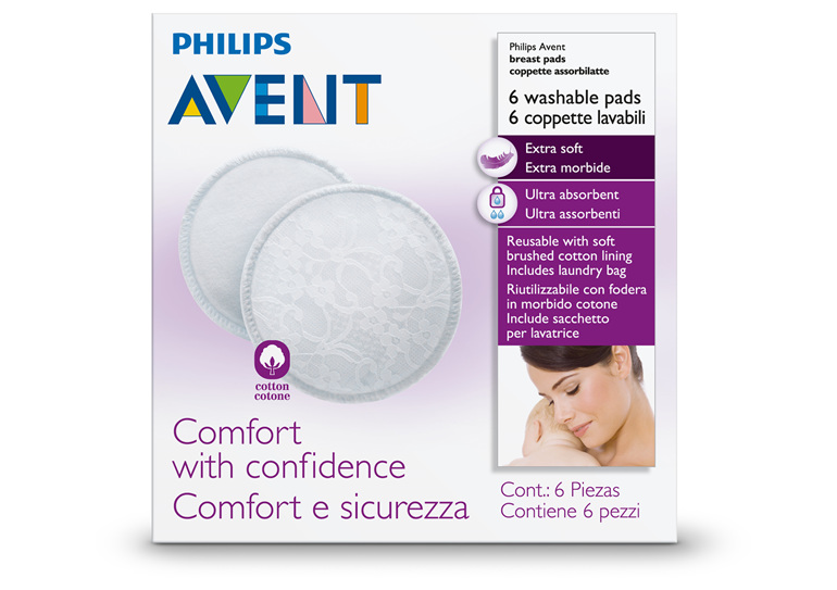 Philips Avent Washable Breast Pads 6pk