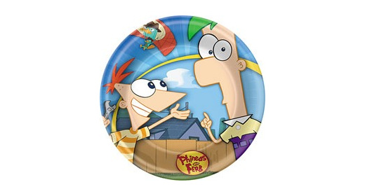 """Phineas and Ferb 9"""" plates (8)"""