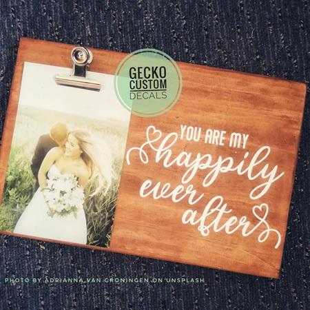 Photo Clipboard - Wedding