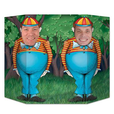 Photo Prop Wonderland Tweedle Dum & Tweedle Dee