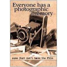 Photographic Memory Fridge Magnet