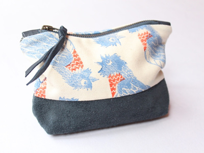 Piet-My-Vrou Pouch with Leather Detail
