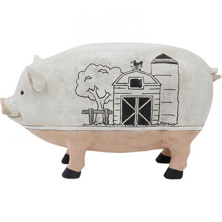 PIG BARN 29.5X9x17cm