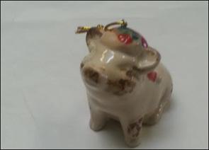 Pig Christmas ornament