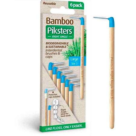 PIKSTERS BAMBOO I/DENTAL BRUSH 5 6PK