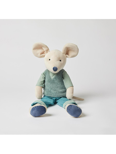 Pilbeam Jiggle & Giggle George Mouse with Fur Vest