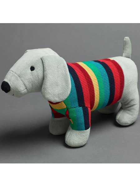 Pilbeam Jiggle & Giggle Grey Sausage Dog with Jumper