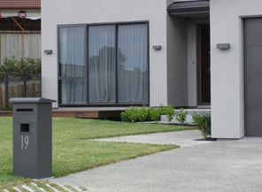 Pillar Letterbox with Peak or Flat Sloping Roof