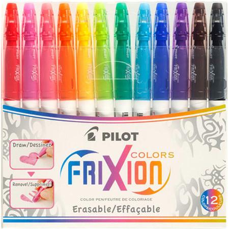 Pilot Frixion Colours Erasable Markers - 12 Pack
