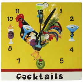 PIM Cocktails Wall Clock
