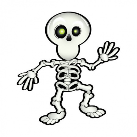 Pin the smile on the skeleton