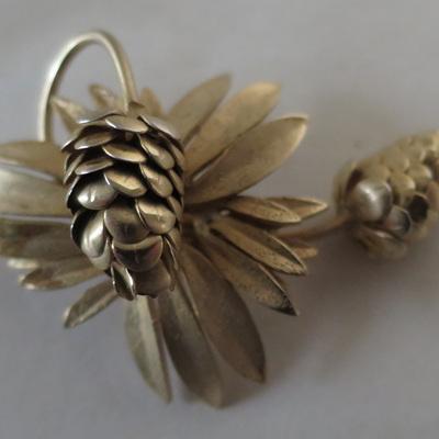 Pine cone brooch