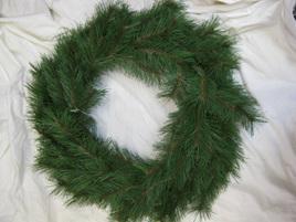 Pine Green Xmas Wreath 600mm
