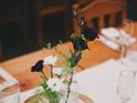 pine ring wedding display