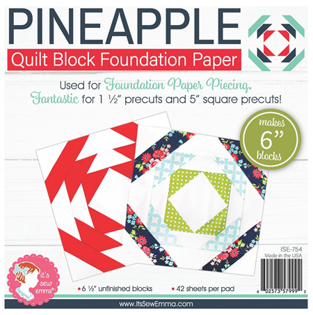 Pineapple 6in Block Foundation Paper Pad from It's Sew Emma