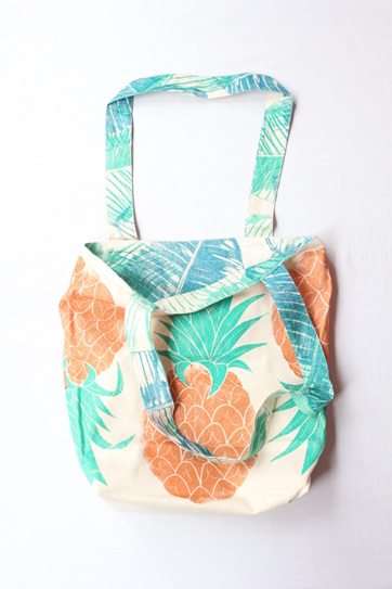 Pineapple Reversible Tote