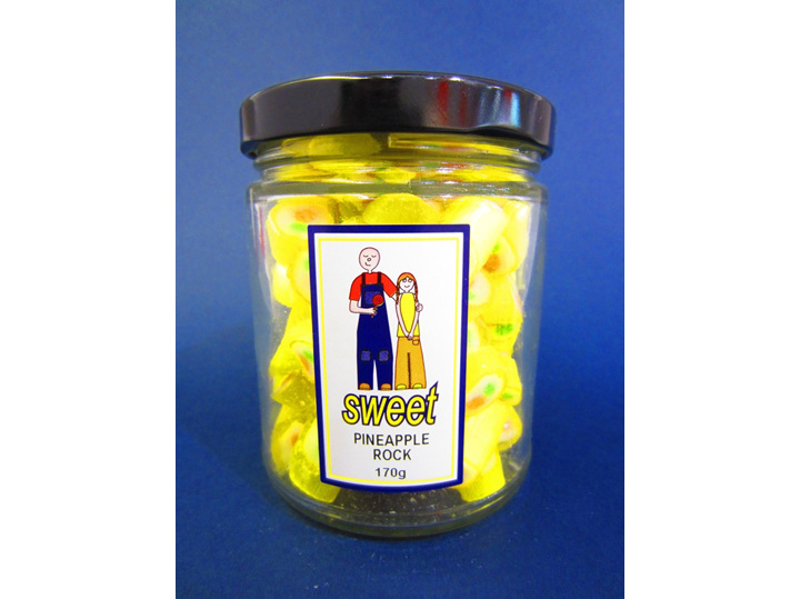 pineapple rock candy jar