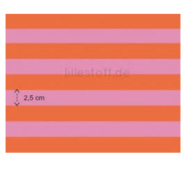 Pink and Orange Wide Stripe