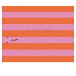 Pink and Orange Wide Stripe