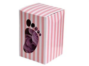 Pink baby shower favour box