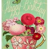 Pink Birthday Teacup