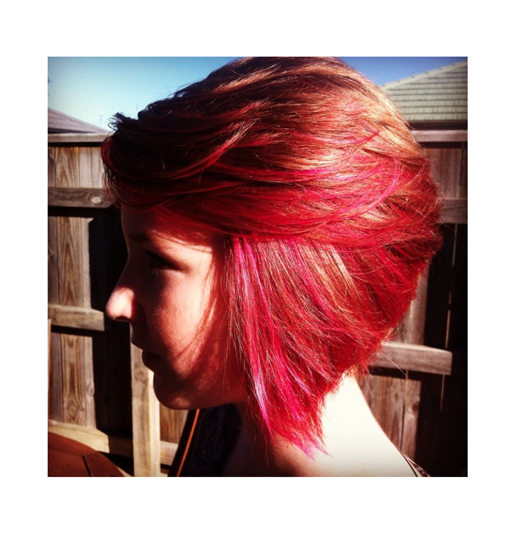 Pink Coloured Bleach
