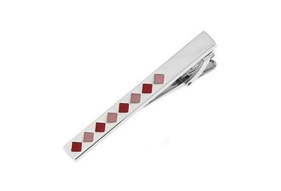 Pink Coloured Tie Clip