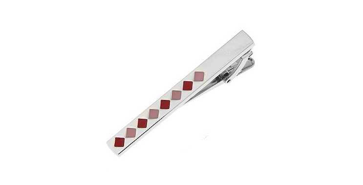 Pink Coloured Tie Clip